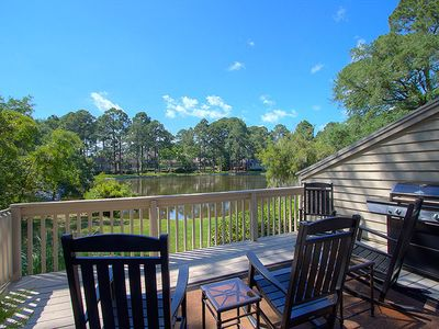 Photo for 2639 Calibogue Club | Updated Throughout | Lovely Lagoon View | Complex Pool & Tennis | Sea Pines