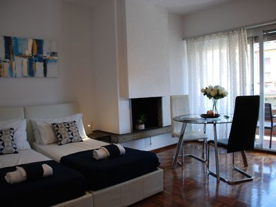 Photo for Beautiful apartment for 2 guests with A/C, WIFI, TV and balcony