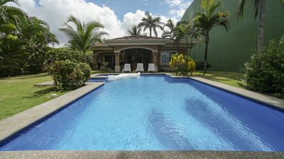 Photo for Oceanfront 3BR Villa with Private Pool on Playa Hermosa just 5 mins form Jaco