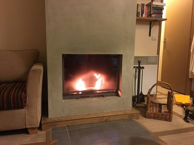 Eco-log burning fireplace