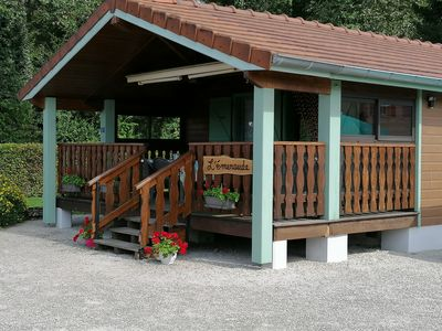 Photo for L'Emeraude, Beautiful Chalet 5 people in the heart of the Jura Lakes region