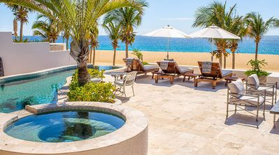 Photo for Contemporary Beachfront Villa w/ Pool and Jacuzzi. Three Levels of Patio and Expansive Living Areas