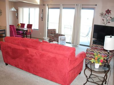 Photo for Sparkling 2 bed 2 bath Condo - Large Deck- Fantastic Lake Views- Walkin-no steps SDC 1 mile!