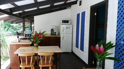 Photo for Coralina 2 comfortable CHIC bungalow *BEACH, AC* - Bungalow for 4 people in Punta Uva