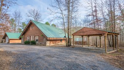 Photo for Beautiful Cabin, Fire Pit, Hot Tub, Spring-Fed Creek, Minutes From Downtown