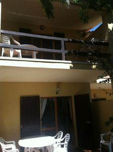 Photo for Terraced house overlooking the sea (300 meters) with garden and parking, barbecue