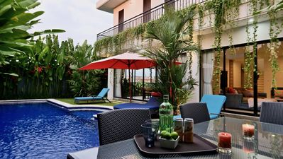 Photo for New luxury private 4 BR villa in Berawa, Canggu