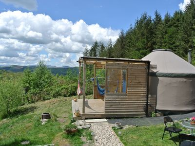 Photo for Eco-Glamping Mountain Yurt North Wales - Sleeps 4 - Pet and Child Friendly