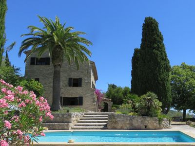 Photo for 13th century Mas with View, Swimming pool, Spa & Charming Renovation