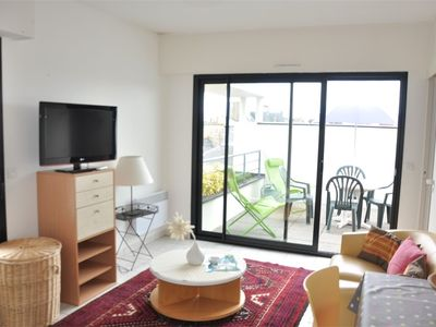 Photo for Beautiful studio with large terrace very well placed in the center of Perros-Guirec