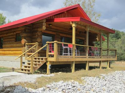 The Eagle's Nest is a handcrafted log cabin overlooking the Ohio River.