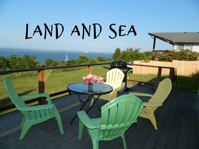 Photo for New! Adorable Cottage with lovely water views, introducing Land and Sea