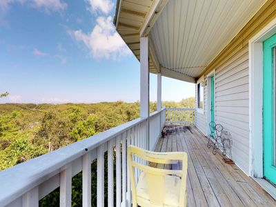 Photo for NEW LISTING! Gulf view duplex w/tiered deck, beach access & shared pools/hot tub