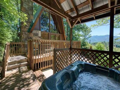 Photo for A-Frame of Mind, 2 Bedrooms, Sleeps 6, Mountain View, Arcade, Hot Tub