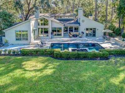Photo for 75 Baynard Cove - Luxurious modern 4 Bedroom Sea Pines home with private pool