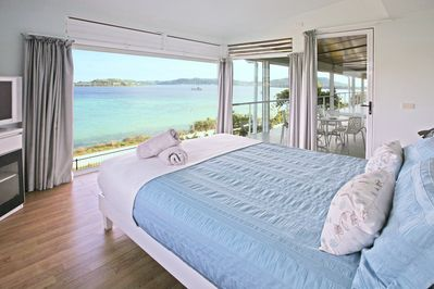 Master bedroom with a view on Port-Vila Harbour