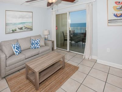 Photo for Adorable Gulf-front on 7th floor | Outdoor pool, BBQ grills, Wifi | Free golf, fishing, OWA tickets