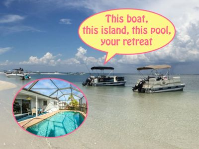 Photo for *Fall Specials* Pontoon Boat, Island Beach, Heated Pool, Fishing