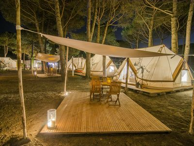 Photo for Furnished tent Nordisk, near Venice and a few steps from the sea