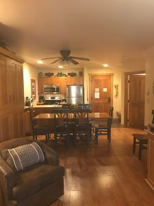 Wood Floors, Large table, Murphy up - pulls down with out moving heavy items.