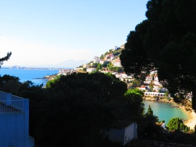 Photo for PAS. Apartment with private parking space and view of the small Bay of Canyelle