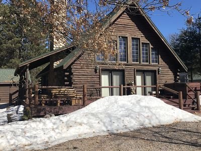 Photo for Lake Arrowhead Log Cabin! Close to Sand Valley Golf Course! Game Room!
