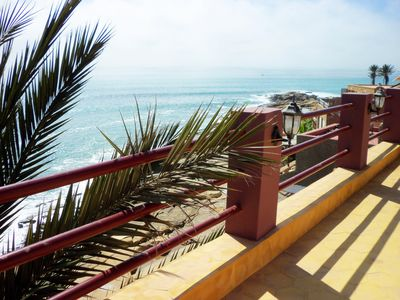 Photo for Ocean Front  SURF VILLA at Anchor Point, Taghazout area, Sundrenched Terrace
