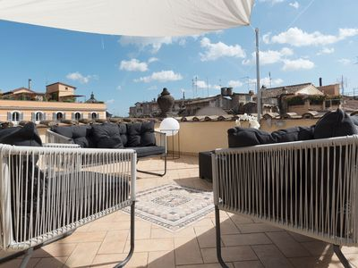 Photo for CS Campo de'Fiori / Navona Terrace apartment!