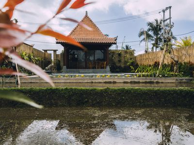 Photo for 1BR Unique Villa with PRIVATE POOL & RICE FIELD VIEW Just outside Ubud
