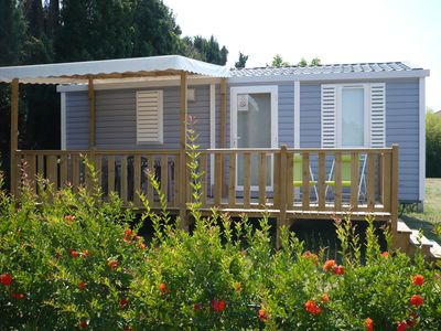 Photo for New mobile homes in type 3 Camping with pool in Saint-Rémy-de-Provence