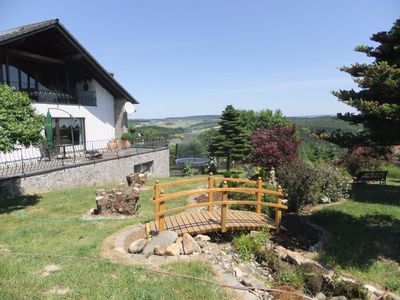 Photo for Ground level holiday apartment w/far view, idyllic location on town's edge