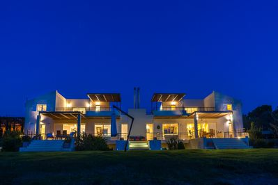 The villa is one of the two detached villas that co-exist within a 4-acre land.