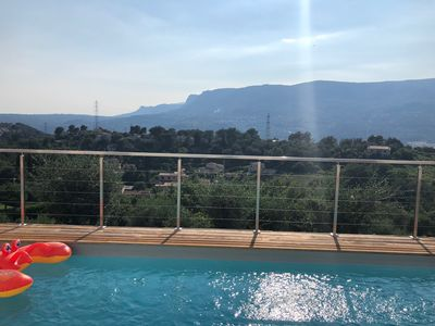 Photo for Modern villa with pool views - nearby NICE