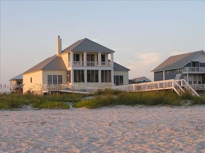 Beach Front View of House
