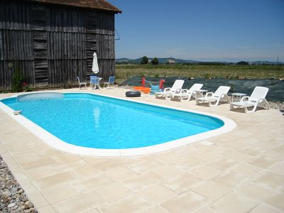 Photo for Gite 1 Jami  well equipped gite with a large swimming pool. Children love it.