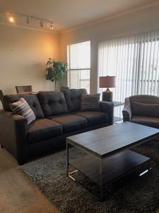 Bright, Cozy Living Area with Patio Access