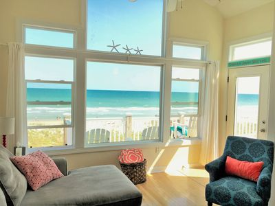 Photo for Beach out front WOW! end unit townhouse, oceanfront pool playground, 3BR 3.5BA
