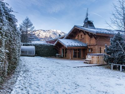 Photo for Newly Renovated Luxurious Chalet With Breathtaking Mont Blanc Views From Hot Tub