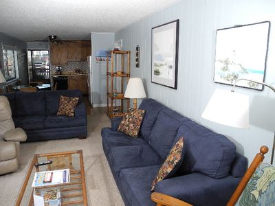 Photo for Inlet Point Villas Unit 2A! Waterway-View 2 Bedroom Condo in Cherry Grove!