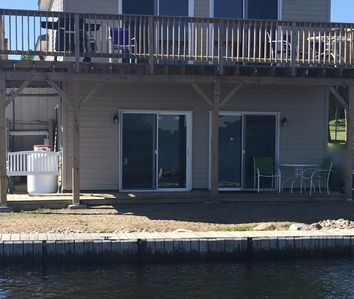 Photo for WATERFRONT Boat House Inn Lower Unit, King Bed