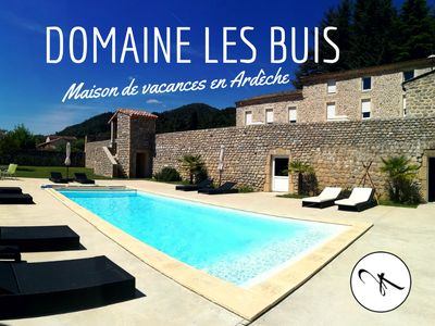 Photo for Large Ardèche house for 14 people with swimming pool and large terrace
