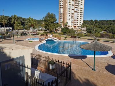 Photo for Beachnear apartment near the golf court, aircondion, internet, community pool