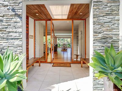 Photo for Architecturally Designed Beach House, Heated Pool, Short Stroll to Beach & Cafe