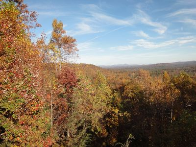 Spectacular long range  fall view from deck ,master bedroom & 2nd master bedroom