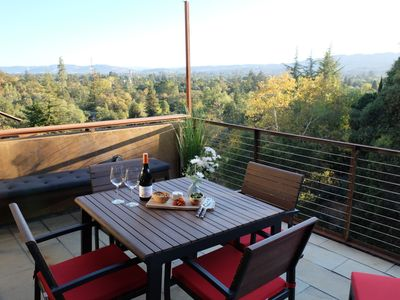 Photo for Modern Sonoma Home! Beautiful Views, Hot Tub.  Relax on The Patio, Wine Country!