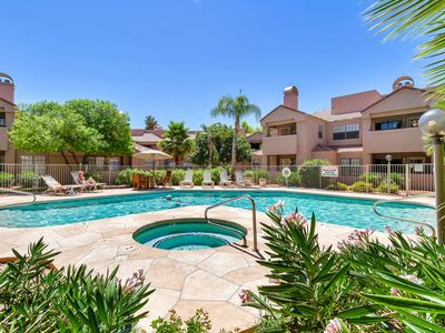 Photo for FREE GOLF & MORE! Comfortable 1st floor in the heart of Scottsdale! Tennis Courts, Heated Pool & Spa