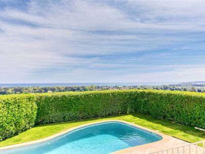 Photo for Villa pool with magnificent panoramic sea view