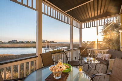 Awesome sunset views - main level screened porch - cocktails and coffee