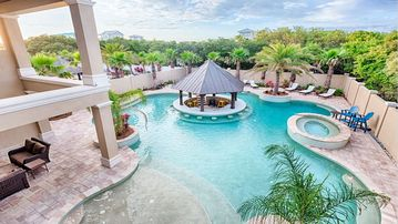 Luxury Private 100,000 gallon private saltwater  Pool with Gazebo Bar & spa
