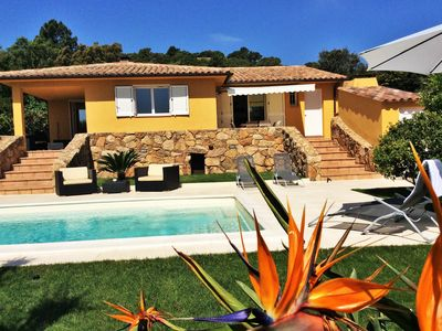 Photo for villa with heated pool between cala rossa and porto vecchio